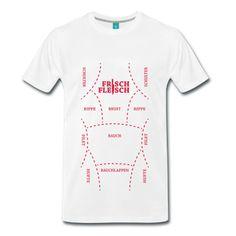 soorten vlees   Vlees - barbecue - vlees soorten T-shirt   Spreadshirt
