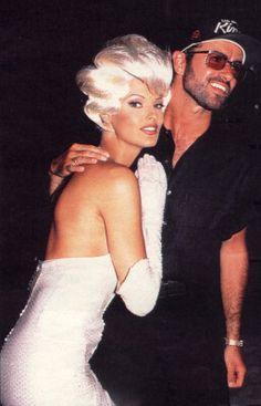 "bohemea:    robertoramone:    LINDA EVANGELISTA & GEORGE MICHAEL ON THE SET OF THE ""TOO FUNKY"" MUSIC VIDEO. 1992"