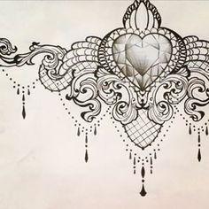Resultado de imagem para Under Breast Tattoos