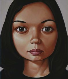 Portrait painting, Peter Stichbury – 'Bic Runga'