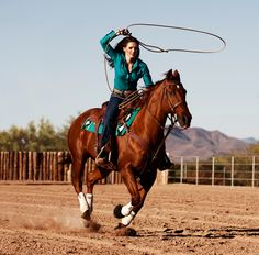 Cowgirl Roping