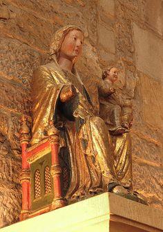 Dortmund, Westfalen, Marienkirche, statue.Dortmund -Germany