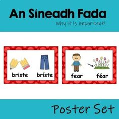 An Síneadh Fada Poster Set (why the fada is... by Ms Forde's Classroom   Teachers Pay Teachers Irish Language, Grammar, Meant To Be, Ms, Classroom, Teaching, Words, Poster, Faeries