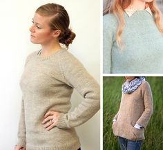 Top-down sweater knitting patterns for first-timers