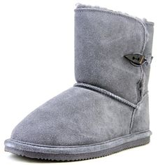 Bearpaw Abigal Youth   Round Toe Suede  Snow Boot - Walmart.com