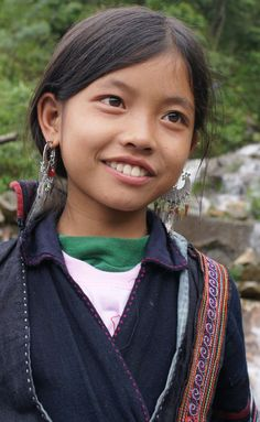 Sweet smile from Sa Pa region, Vietnam.
