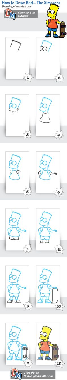How to Draw Bart- The Simpsons http://bit.ly/1BAdYsh