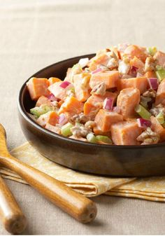 Roasted Sweet Potato Salad – As if the sweet potatoes weren't enough to make this potato salad extra special, we added red onions and walnuts to the recipe.
