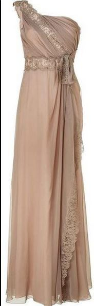 Champagne beige evening dress