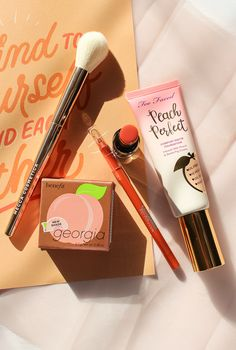 A Mood-Boosting Peachy Makeup Look Peachy Makeup Look, Makeup Looks, Matte Foundation, About Me Blog, Lips, Mood, Face, Recipes, Beauty