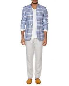 Blue Checkered Jacket