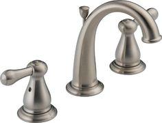 Delta 3575LF-SS Leland Two Handle Widespread Lavatory Faucet, Stainless DELTA FAUCET http://www.amazon.com/dp/B0032SCG90/ref=cm_sw_r_pi_dp_jBRKvb1KCKD7W