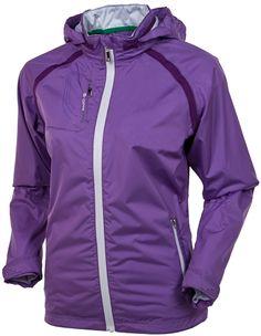 AUR Waterproof Jacket in Amethyst | #golf4her