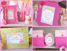 print -  Sleeping Beauty Party  SIGNS  Disney Princess por KROWNKREATIONS