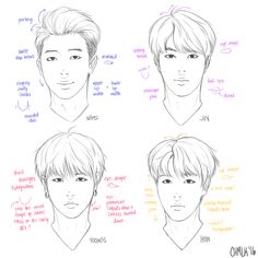 rap monster jin j-hope suga bts art Rap Monster, Drawing Tips, Drawing Reference, Bts Face, Kpop Drawings, Kpop Fanart, How To Draw Hair, Bts Jin, Namjoon
