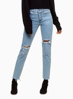Check out the latest high-rise jeans from Aritzia and its exclusive brands. Shop Levi's, Denim Forum, Citizens of Humanity, AGOLDE, Frame and more. Levis Wedgie Jeans, Mom Jeans, Skinny Jeans, Light Wash Jeans, High Rise Jeans, Jean Outfits, Who What Wear, Stretch Denim, Autumn Fashion