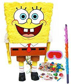 SpongeBob Buddies Pull-String Pinata Description: Enjoy your party with SpongeBob buddies! Includes one SpongeBob Buddies pull-string pinata that measures approximatel Spongebob Party Supplies, Spongebob Birthday Party, Birthday Party Themes, Birthday Ideas, 4th Birthday, Birthday Pinata, Prince Birthday, Special Birthday, Diy Piñata