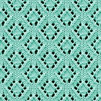 Diamond Eyelet Lace stitch, free knitting stitch pattern. The stitch would be great for baby blankets, scarves, and hats