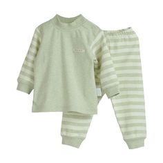 Comfy Green Stripe Pants Set-Infant & Toddlers, 61.8% discount @ PatPat Mom Baby Shopping App