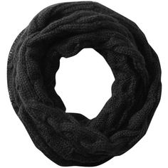 Spun by Subtle Luxury Infinity Chunky Sweater Knit Scarf ❤ liked on Polyvore featuring accessories, scarves, black, chunky infinity scarf, circle scarf, chunky circle scarf, knit scarves and tube scarves