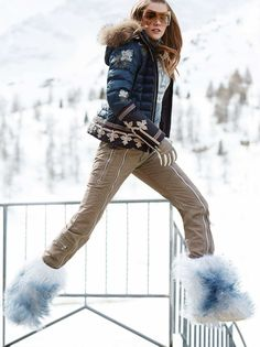 DOWN SKI JACKET LEANA in Blue for Women | BOGNER EU