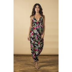 Dancing Leopard Genie Jumpsuit in Honalula Print ($50) ❤ liked on Polyvore featuring jumpsuits, multicolour, holiday jumpsuits, cocktail jumpsuit, summer jumpsuits, multi color jumpsuit and evening jumpsuits