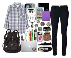 Back to School: Monday (I start school on Wednesday but I decided to do Monday-Friday back to school sets) by fandoms-unite-3947 on Polyvore featuring Current/Elliott, Frame Denim, Sharpie, Vans, Victoria's Secret PINK, Palm Beach Jewelry, Paper Mate and Journal Standard