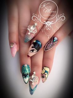 Kirsty Meakin Nail Art, Disney Princesses | NAIO NAILS PRODUCTS