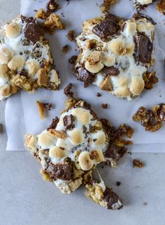 Chocolate Chip Cookie S'mores Bars.