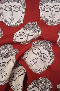 Kalamkari Block Printed Silk Cotton Cut (blouse) Fabric