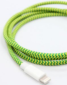 Florescent Collective Cable for Lightning-compatible iPhone, iPad, and iPod Touch.