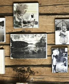 Tee rakkaista muistoista tauluja | Meillä kotona Diy And Crafts, Arts And Crafts, Alternative Art, Photo Transfer, Diy Art, Decoupage, Gallery Wall, Homemade, Creative
