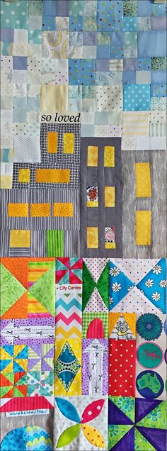 Here it is, my version of Jen Kingwell's My Small World Quilt, finally finished, except for the quilting, after six weeks of rummaging th...
