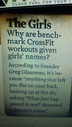 Why Crossfit WODs are named after women