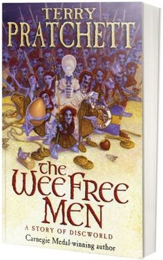 ".@Inês Matos ""The Wee Free Men"" by Terry Pratchet is my #FridayReads (starting to think Tangled's frying pan idea was stolen from here!)"