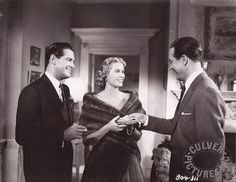 (Grace Kelly with Robert Cummings (left) and Ray...)