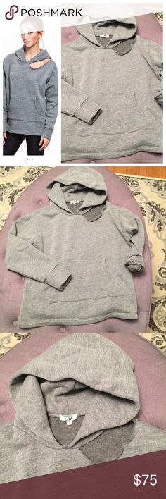 LNA CUEVA DISTRESSED HOODIE Size L but perfect for a size small or med who likes a slightly loose fit. In mint condition, no imperfections or signs of wear.  💋 Reasonable offers welcome 〰 ALL measurements are approximate  🚫 Sorry, NO trades ❗️NO MODELING pics 📦 Ships w/in 24 hrs 👌🏼 LNA Tops Sweatshirts & Hoodies