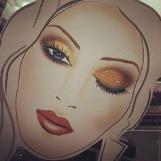 ariellizarraga: face chart by me, preparing for our Spring . - more_make_up_pintennium Makeup Artist Quotes, Mac Face Charts, Glitter Face, Gold Glitter, Makeup Face Charts, Makeup Drawing, Diy Makeup Vanity, Gold Eyeshadow, Blue Makeup