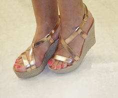 Shoe Collection, Me Too Shoes, Wedges, Fashion, Moda, Fashion Styles, Fashion Illustrations, Wedge, Wedge Sandals