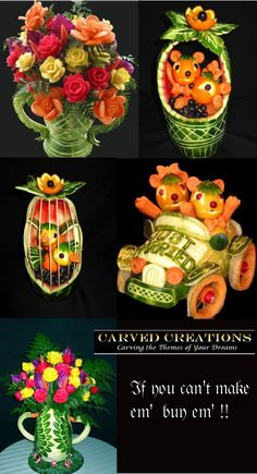 playing with food -- carved creations