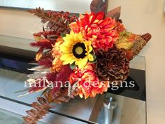 Thanksgiving Cornucopia Arrangement Fall Autumn by milanaZdesigns, $59.00 #cornucopia #handmade #milanaZdesigns #floral #arrangement #fall #thanksgiving #harvest #decor #table