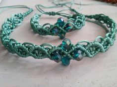 Excited to share the latest addition to my #etsy shop: Macrame choker and bracelet http://etsy.me/2CQr79N #jewelry #green #bracelet #women #victorian #macrame #macramenecklace #macramechoker #macramebracelet