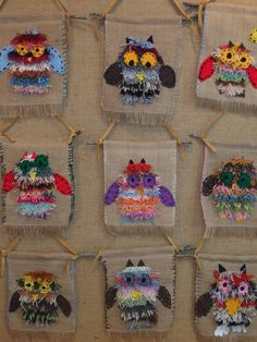 burlap and yarn owl
