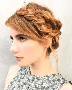 15 Celebrities Show You How to Style Crown Braids: #6. Emma Roberts Crown Braid