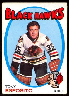 1971 72 Topps 110 TONY ESPOSITO VG-EX CHICAGO BLACK HAWKS HOCKEY CARD #ChicagoBlackhawks