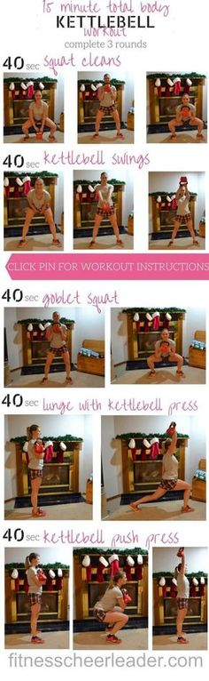 15 min full body kettlebell workout for runners. Do this routine 3 times a week to become a faster runner Full Body Kettlebell Workout, Kettlebell Swings, Kettlebell Routines, Exercise Routines, Easy Workouts, At Home Workouts, Circuit Workouts, Butt Workouts, Fitness Workouts