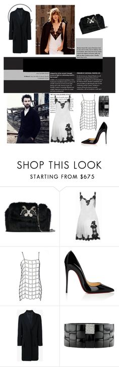"""""""Shades of Grey"""" by tsma ❤ liked on Polyvore featuring Ermanno Scervino, Agent Provocateur, Alasdair, Christian Louboutin, Curieux and Roberto Demeglio"""