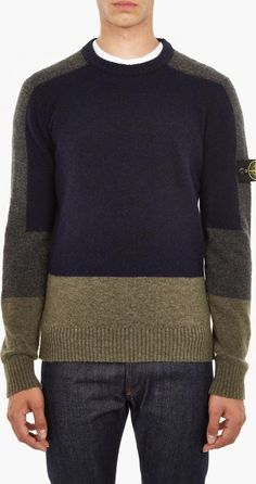BRUSHED WOOL PANEL PULLOVER. The Stone Island Brushed Wool Panelled Sweater for AW16, seen here in navy and khaki. This sweater from Stone Island is crafted in Italy from a warm alpaca blend and features a unique panelled motif throughout. #StoneIsland #Navy #Pullovers #OKI-NI #Men #fashion #obsessory #fashion #lifestyle #style #myobsession #mensfashion #AW16 #winterfashion #menswear #fashionformen #trend #luxury #lifestyle