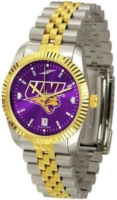 Northern Iowa Panthers Executive AnoChrome Men's Watch by SunTime. $139.95. Men. Stainless Case With 23kt Gold-Plated Bezel. Links Make Watch Adjustable. Officially Licensed Northern Iowa Panthers Men's Stainless Steel Alumni Dress Watch. AnoChrome Dial Enhances Team Logo And Overall Look. The ultimate NCAA Northern Iowa Panthers fan's statement, our Executive timepiece offers men a classic, business-appropriate look. Features a 23KT gold-plated bezel, stainless steel ca...