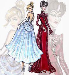 #Hayden Williams Fashion Illustrations #Princess vs Villainess by Hayden Williams: Cinderella & Lady Tremaine